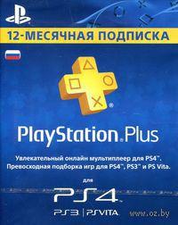 Цифровой ключ PlayStation Plus 12-месячная подписка: Карта оплаты