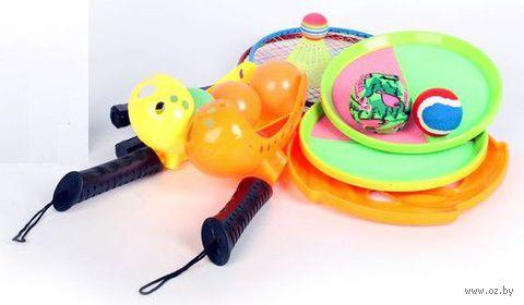 Спортивный игровой набор с бадминтоном и теннисом (в рюкзаке)