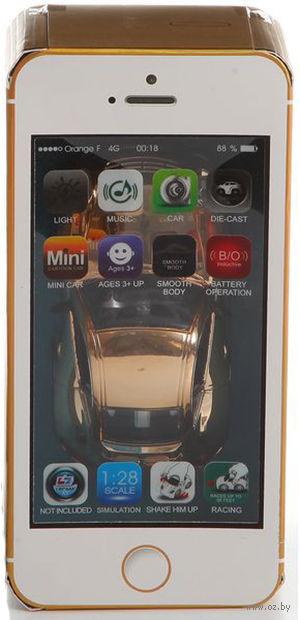 Автомобиль инерционный в коробке-смартфоне (арт. MY66-Q64)
