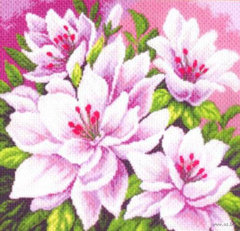 """Вышивка крестом """"Розовые цветы"""""""