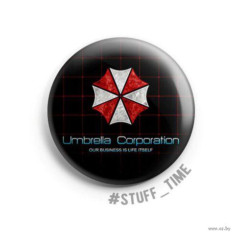 """Значок маленький """"Обитель Зла: Umbrella Corporation"""" (арт. 424) — фото, картинка"""