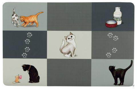 """Коврик под миску """"Patchwork Cat Place"""" (44х28 см) — фото, картинка"""