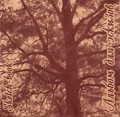 "Альбом для эскизов на картоне ""Дерево"" (210х210 мм; 40 листов)"