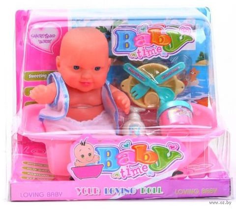 "Пупс в ванне ""Baby Time"" (с аксессуарами)"