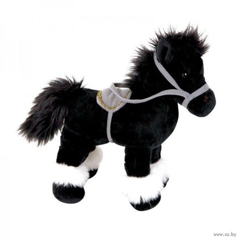"""Мягкая игрушка """"Лошадка черная"""" (20 см)"""