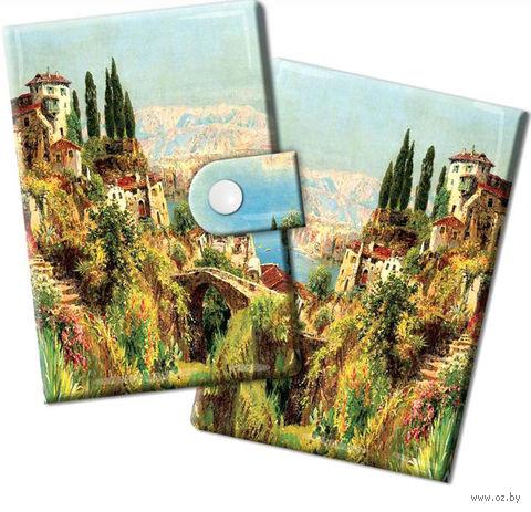"""Визитница """"Итальянский городок"""" — фото, картинка"""
