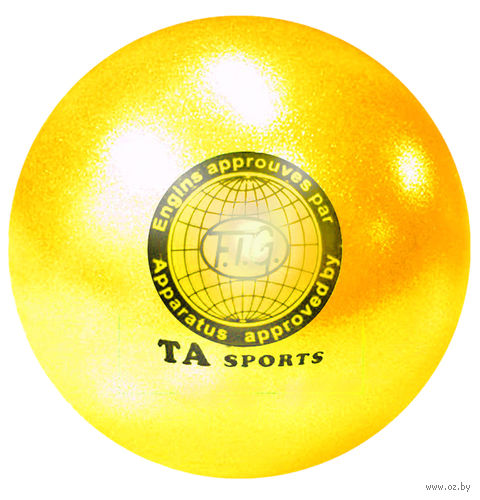 Мяч для художественной гимнастики T8 (жёлтый) — фото, картинка
