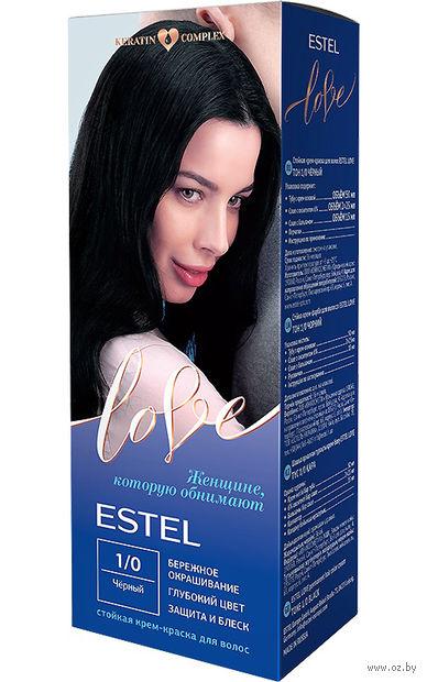 """Крем-краска для волос """"Estel Love"""" (тон: 1/0, черный) — фото, картинка"""
