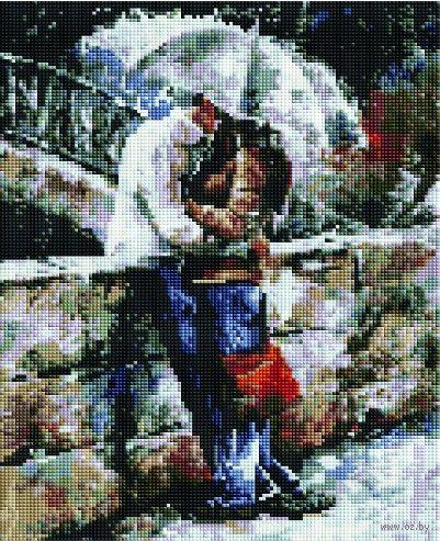 "Алмазная вышивка-мозаика ""В объятьях под дождем"" (300х400 мм) — фото, картинка"