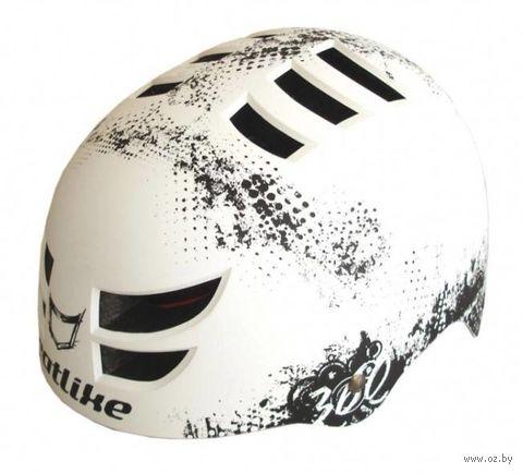 """Шлем велосипедный """"360°"""" (чёрно-белый) — фото, картинка"""
