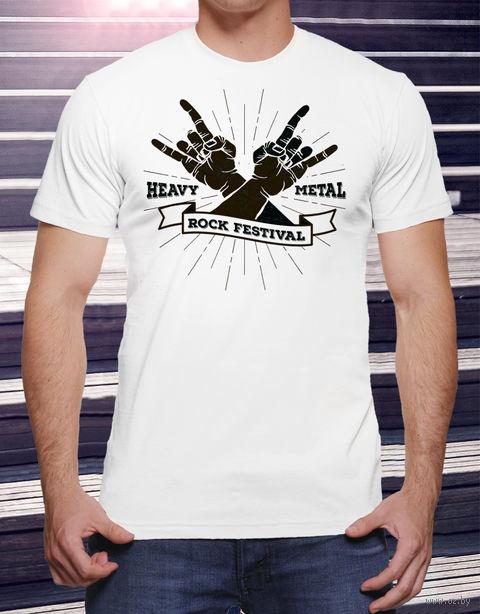 "Футболка мужская ""Heavy Metal"" M (art.16)"