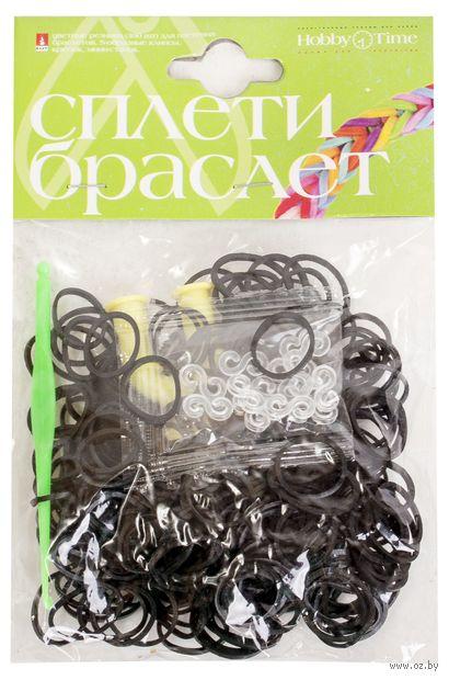 """Набор для плетения из резиночек """"Черный"""" (300 шт.) — фото, картинка"""