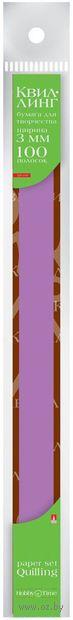 Бумага для квиллинга (300х3 мм; фуксия; 100 шт.) — фото, картинка
