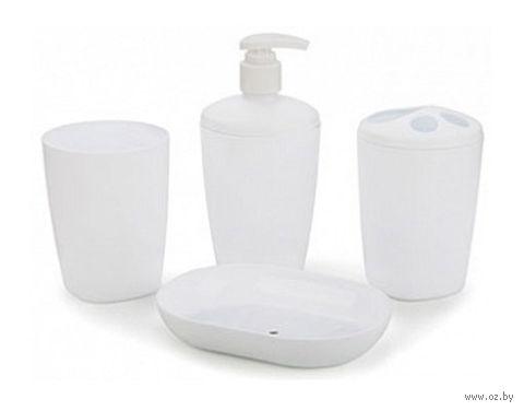 """Набор аксессуаров для ванной комнаты """"Aqua"""" (снежно-белый) — фото, картинка"""