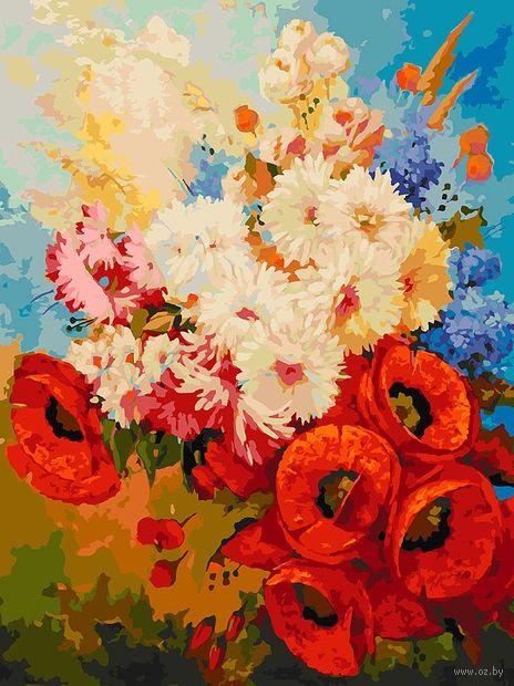 "Картина по номерам ""Цветочная мозаика"" (300х400 мм) — фото, картинка"
