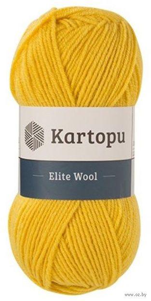 "Пряжа ""KARTOPU. Elite Wool №К1321"" (100 г; 220 м; желтый) — фото, картинка"