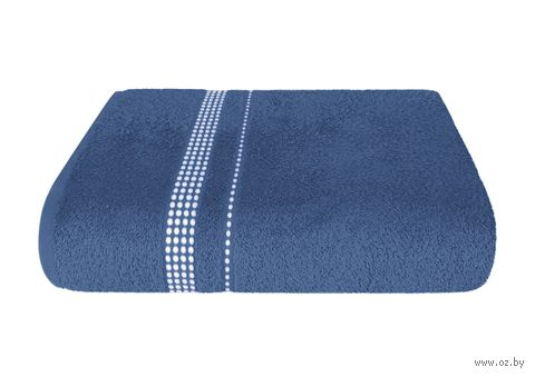 """Полотенце махровое """"Лето"""" (40х70 см; темно-синее) — фото, картинка"""
