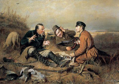 """Пазл """"Охотники на привале"""" (60 элементов)"""