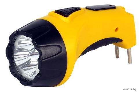 Фонарь светодиодный 4 LED с прямой зарядкой (жёлтый) — фото, картинка