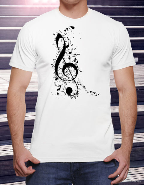 "Футболка мужская ""Music"" M (art.17)"