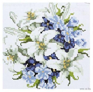 """Алмазная вышивка-мозаика """"Лилии"""" (300x300 мм) — фото, картинка"""