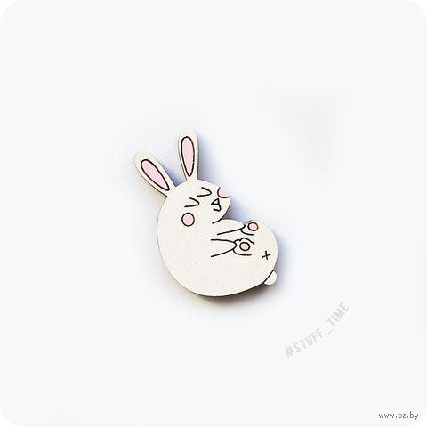 """Значок деревянный """"Кролик"""" (арт. 270) — фото, картинка"""