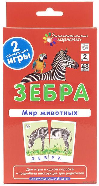 Зебра. Мир животных. Окружающий мир (набор из 48 карточек). Елена Гончарова