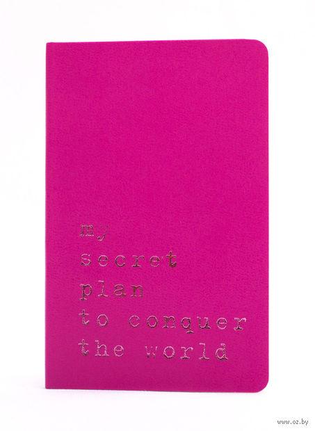 """Записная книжка Молескин """"Volant. My Secret Plan"""" нелинованная (карманная; мягкая темно-розовая обложка)"""