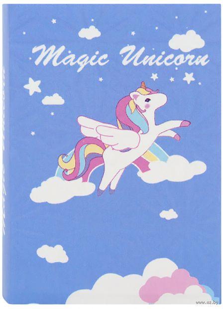"""Стикеры """"Flying unicorn"""" (синие) — фото, картинка"""