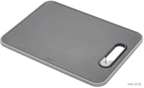 "Доска разделочная с ножеточкой ""Slice&Sharpen"" (300х220х10 мм; черная) — фото, картинка"