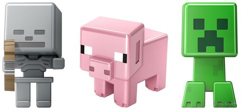 Набор мини-фигурок. Minecraft (Creeper, Skeleton, Pig)
