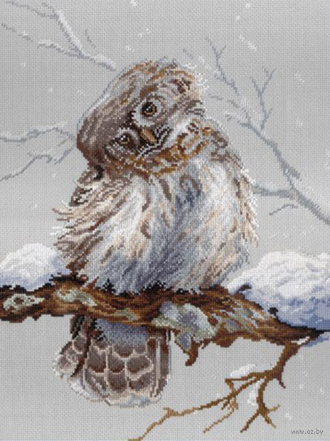 "Вышивка крестом ""На страже леса"" (400x300 мм) — фото, картинка"