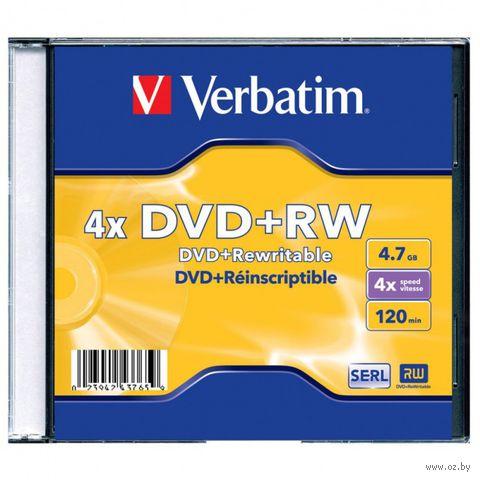Диск DVD+RW 4.7Gb 4x Verbatim Slim Single