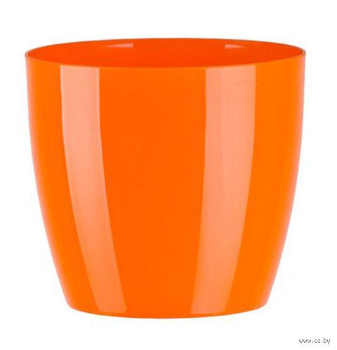 """Цветочный горшок """"Ага"""" (14 см; оранжевый) — фото, картинка"""