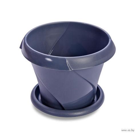 """Цветочный горшок """"Флориана"""" (10 см; синий) — фото, картинка"""