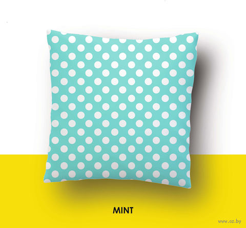 "Наволочка хлопковая ""Mint"" (70x70 см) — фото, картинка"