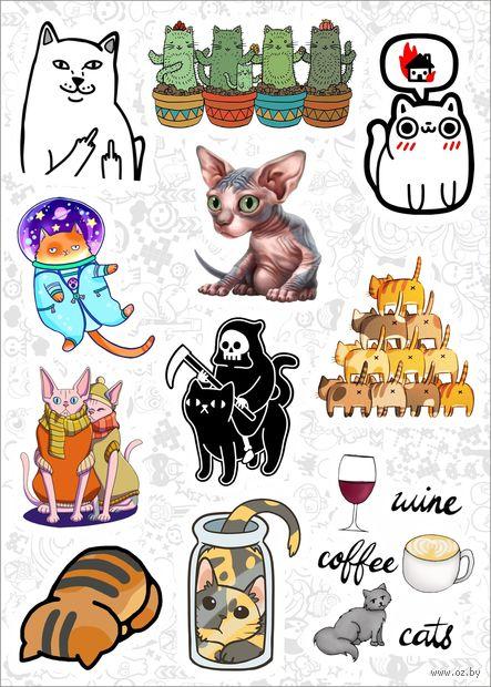 """Набор наклеек №156 """"Котики"""" — фото, картинка"""