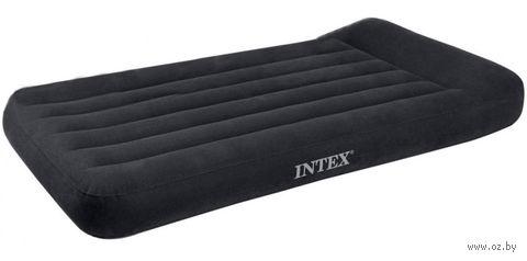 Матрас надувной с подголовником (99*191*30 см, пластик) со встроенным электронасосом (220-240 Вт)