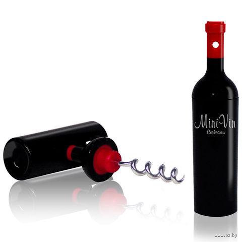 "Штопор для бутылок ""Mini Vin"" (черный)"