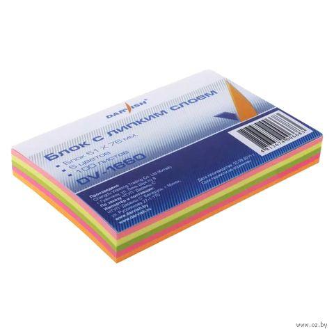"""Бумага для записей на клейкой основе """"Darvish"""" (ассорти; 51х76 мм)"""