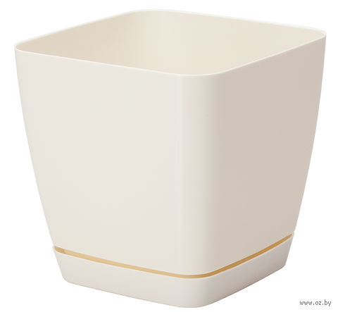 """Цветочный горшок """"Тоскана"""" (19х19х18,5 см; кремовый) — фото, картинка"""