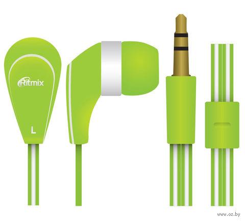 Наушники Ritmix RH-181 (зеленые) — фото, картинка