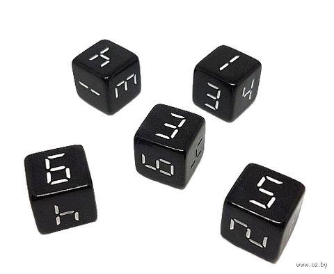 """Кубик D6 """"Электронник"""" (16 мм; чёрно-белый) — фото, картинка"""