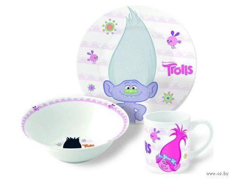 """Набор для завтрака """"Trolls"""" (3 предмета) — фото, картинка"""