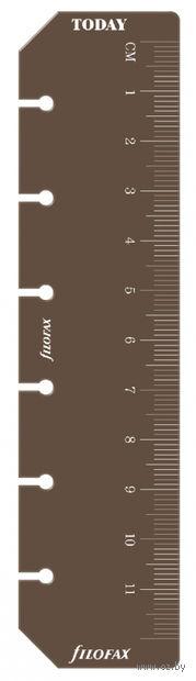 Линейка-закладка Filofax (pocket, brown)