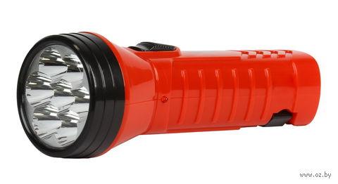 Фонарь аккумуляторный светодиодный 7 LED с прямой зарядкой (красный) — фото, картинка