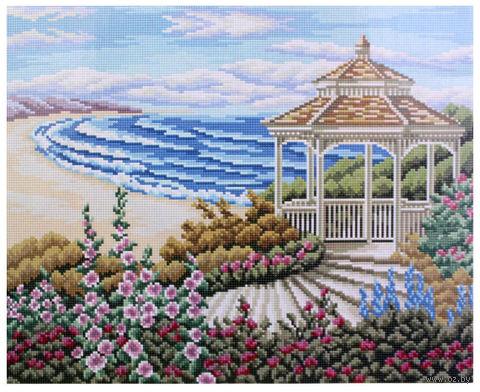 """Алмазная вышивка-мозаика """"Беседка у моря"""" (400x500 мм) — фото, картинка"""