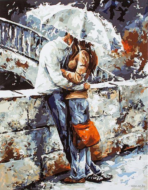 """Картина по номерам """"В объятьях под дождем"""" (400х500 мм; арт. PC4050095) — фото, картинка"""