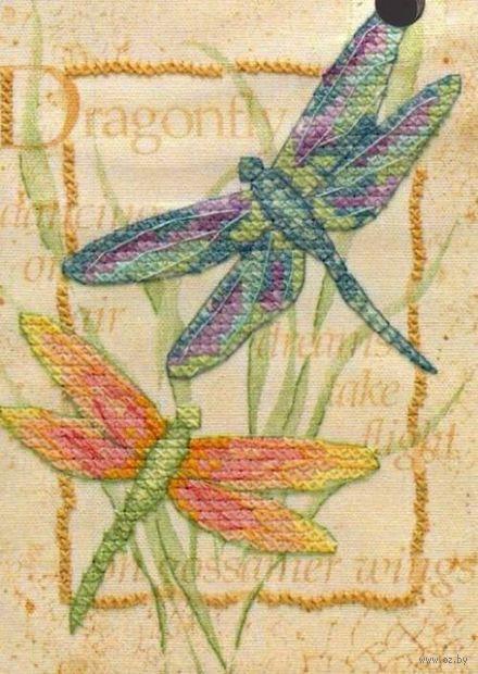 """Вышивка крестом """"Танец стрекоз"""" (180х130 мм, арт. DMS-06930)"""