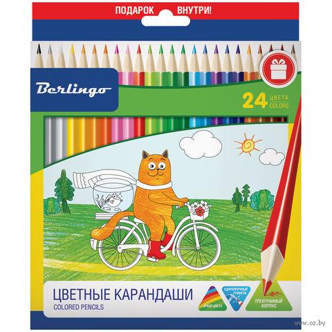 """Карандаши """"Жил-был кот"""" (24 цвета)"""